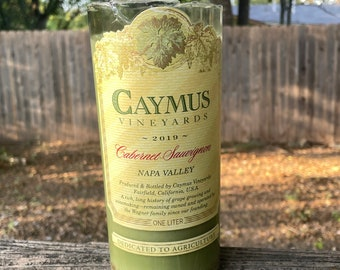 Caymus Vineyards Recycled Wine Bottle Candle