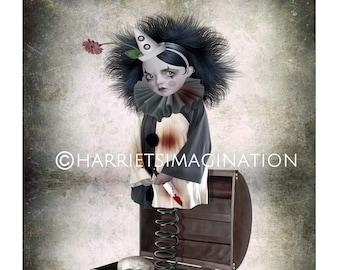 Jack In A Box Art Print, Creepy Clown Wall Art - HarrietsImagination