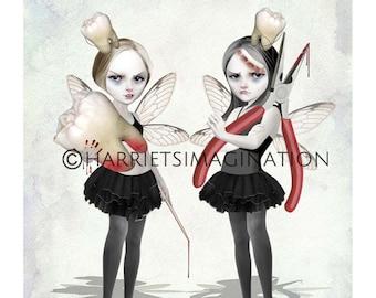 Tooth Fairies Art Print, Fairy Wall Art - HarrietsImagination