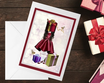 Christmas Gifts Card, Unique Christmas card - HarrietsImagination