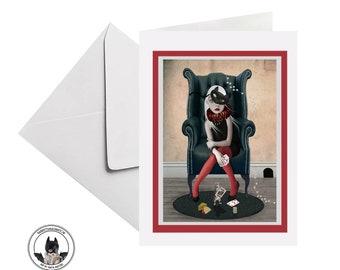 Pop Surrealism Art Greeting Card, Suitable For Framing - HarrietsImagination