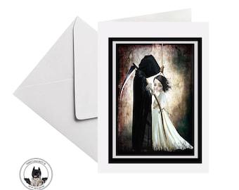 Grim Reaper Greeting Card, Suitable For Framing - HarrietsImagination