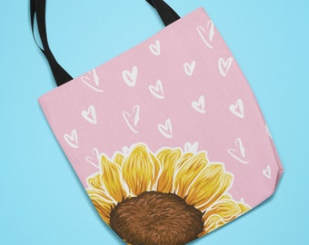 Sunflower with Hearts