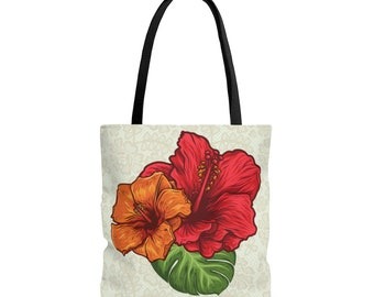Flower Tote Bag, Floral Tote Bag, Cute Tote Bag, Flower Art Tote, Self Gift, Shopping Bag