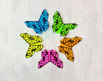 Bookmark - x5 Beautiful Origami Butterfly Bookmarks