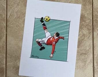 Wayne Rooney Overhead Kick print