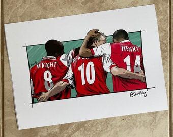 Arsenal 3 Top Guns, A4 print