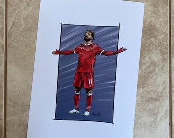 Mo Salah celebration Liverpool Print
