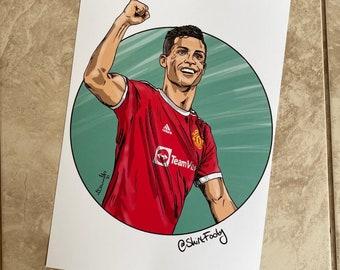 Cristiano Ronaldo Man Utd Print