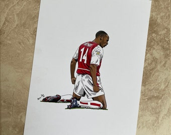 A4 digital print of Thierry Henry