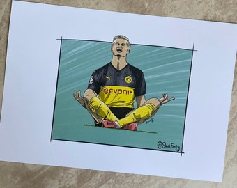 A4 print of Erling Haaland