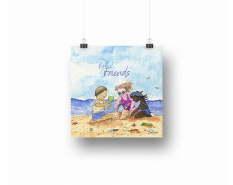 Best Friends ~ Downloadable Art Prints ~ Printables ~ Printable Art ~ Downloadable ~ Download Art ~ Posters ~ Printable Posters ~ Friendship