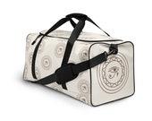 Eye Of Horus Monochrome Duffle Bag - Ivory & Brown