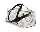 Eye Of Horus - Monochrome - Weekender Bag | Overnight Bag | Duffle Bag | Duffle Bag Women | Weekend Bag | Weekender Bag Women