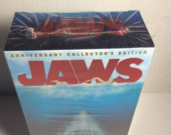 Vintage Jaws VHS Double Tapes Factory Sealed - Tiny Tear on Bottom