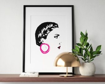 Lady in Pink Poster