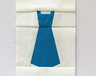 Dress Expansion Foundation Paper Piecing/FPP Quilt Block Pattern, Digital Download