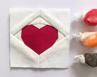Classic Heart Foundation Paper Piecing/FPP Quilt Block Pattern, Digital Download