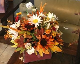 Silk Flowers - Fall Flowers- Fall Table Arrangements - Fall Decor - Artificial Flower Arrangements - Fake Flowers