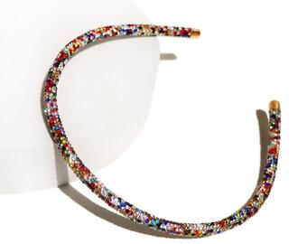 Sparkle Glitter Thin Headband, Unique Women Fashion Hair Accessories, Trendy Headband