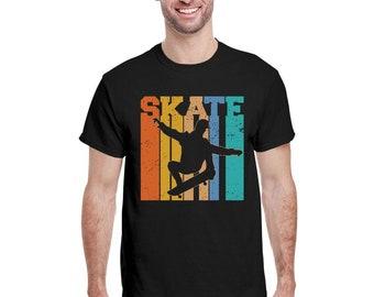 Skateboard Skater Vintage Skateboarding Gift Boys Teens Men T-Shirt Old School 80s Retro Skateboard Longboard 90s Gift Skateboarding Team