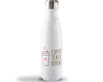 Coffee Teach Repeat Heart Stainless Steel