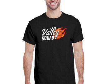 Valley Squad, Phoenix Basketball, Valley-Oop Tee, Valley-Oop Shirt, Rally in the valley Shirt, Flaming Basketball Phoenix Sunset T-shirt