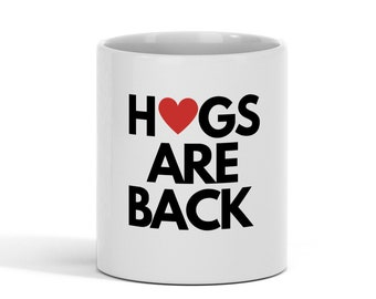 Hugs Are Back Essential Heart Ceramic Coffee Mug  11 oz Coffe Mug Cup Gift Back To School Teacher Mug Gift For Mom, Sister, Best Friend