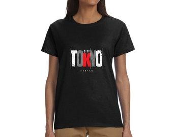 Women Vintage Retro Tokyo Japan T-shirt Design