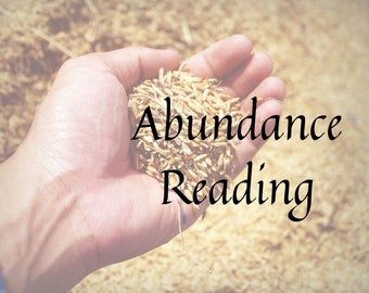 Abundance Reading with Ritual, gift for friend, tarot card reading, personalized gift, Goth, Witch, Wicca, shabby Chic, Zen