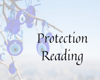 Protection Reading with Ritual, gift for friend, tarot card reading, personalized gift, Goth, Witch, Wicca, Evil-Eye