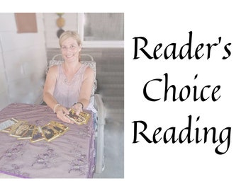 MYSTERY BOX, Reader's Choice Reading with Ritual, Spell, Meditation, tarot reading, gift for him, gift for her, shabby chic, zen, goth