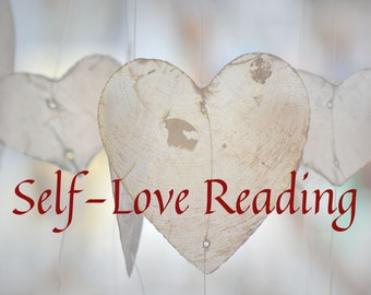 Self-Love Reading with Ritual, Spell, or Meditation, tarot reading,  gift for him, gift for her, shabby chic, zen, goth, personalized