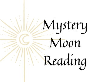 Mystery Full Moon Tarot Card Reading, READING ONLY, full moon reading, gift for him, gift for her, fortune cookie, Goth, Wicca, Witch