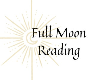 Full Moon Reading Mystery Box Subscription, Tarot card reading with Meditation, Ritual, Spell, Personalized Reading