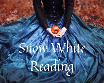 Snow White Romance Reading with Ritual, Spell, Meditation, tarot reading, gift for him, gift for her, shabby chic, zen, goth, personalized