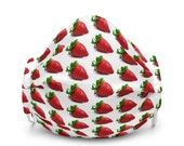 Strawberry Strawberries Fruit Premium face mask