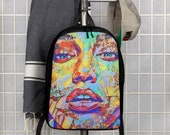 Graffiti Hiphop Super Model Art Polyester Minimalist Backpack