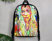 Graffiti Rock&Roll Super Model Art Polyester Minimalist Backpack