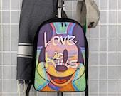 Graffiti Hiphop Love kills Art Polyester Minimalist Backpack