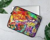 Cool Artsy Laptop Sleeve with Super Model Graffiti
