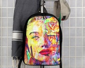 Graffiti R&B Super Model Art Polyester Minimalist Backpack