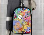 Graffiti Monopoly Game Art Polyester Minimalist Backpack