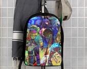 Graffiti Astronaut Space UFO Polyester Minimalist Backpack