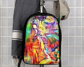 Graffiti DjBag Super Model Art Polyester Minimalist Backpack