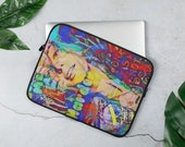 Bff Graffiti Laptop Sleeve with Colorful Cool Print
