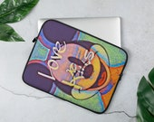 Cool Cartoon Laptop Sleeve with Love Art