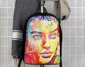 Graffiti Gorgeous Super Model Butterflies Polyester Minimalist Backpack