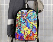 Graffiti R&B 90's Star Prince Art Polyester Minimalist Backpack