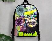 Graffiti Skull Art Art Polyester Minimalist Backpack
